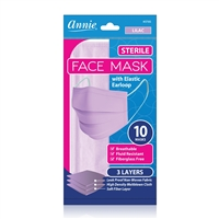 Annie Sterile Earloop Face Mask One Size 10ct Lilac