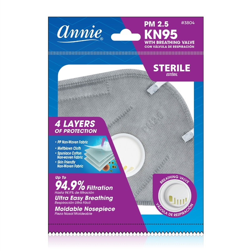 Annie 3D Mask with Breathing Valve (Assorted Colors)