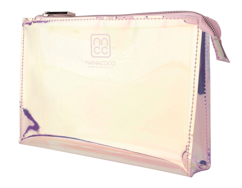 Nanacoco Pro Holographic Makeup Bag w/ zipper