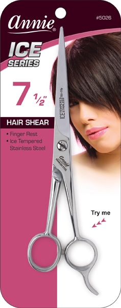 Annie Ice Tempered Stainless Steel Hair Shears, 7.5""