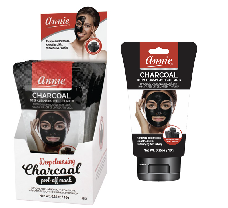 Annie Charcoal Deep Cleansing Peel-Off Mask, Mini Pouch 0.35oz