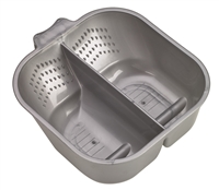 Annie Divided Tint Bowl with Rubber 700ml, Grey