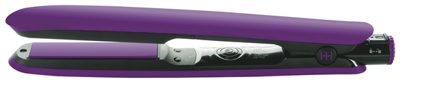 Hot & Hotter Heat Resistant Silicone Grip Ceramic Flat Iron, Purple