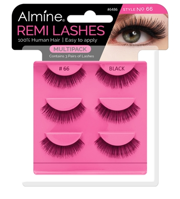 Almine Eyelashes  Multipack (Style No. 66)