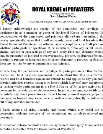 Guest Liability Waiver