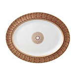Bernardaud Incrustation Privilege Oval Platter Medium