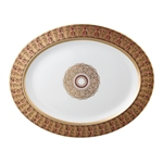 Bernardaud Incrustation Privilege Oval Platter
