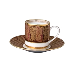 Bernardaud Incrustation Privilege Espresso Cup & Saucer
