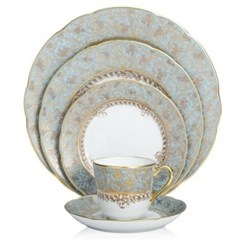 Bernardaud Eden Turquoise Five Piece Place Setting