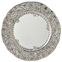 Bernardaud Eden Platinum Dinner Plate - 10.2""