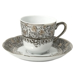 Bernardaud Eden Platinum Coffee Saucer Only