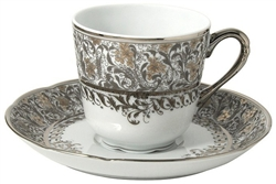 Bernardaud Eden Platinum Coffee Cup Only
