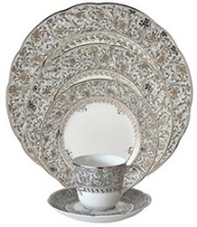 Bernardaud Eden Platinum Five Piece Place Setting