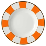 Bernardaud Galerie Royale Orange Rim Soup
