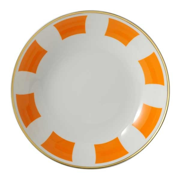 Bernardaud Galerie Royale Orange Coupe Soup