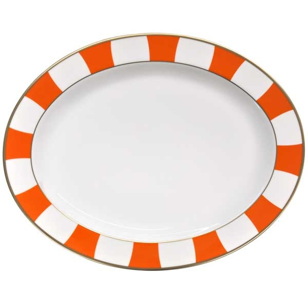 Bernardaud Galerie Royale Orange Oval Platter