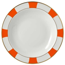 Bernardaud Galerie Royale Orange Deep Round Dish