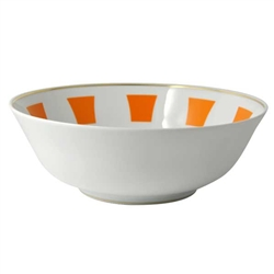 Bernardaud Galerie Royale Orange Salad Bowl