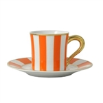 Bernardaud Galerie Royale Orange After Dinner Saucer Only