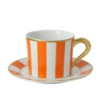 Bernardaud Galerie Royale Orange Tea Saucer Only