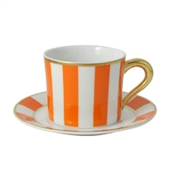 Bernardaud Galerie Royale Orange Tea Cup Only