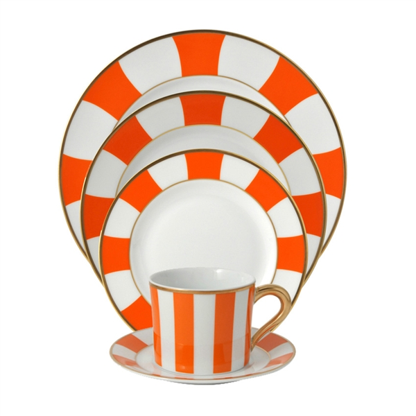 Bernardaud Galerie Royale Orange Five Piece Place Setting
