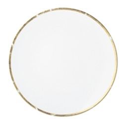 Bernardaud Gold Leaf Coupe Soup Plate 7.5""