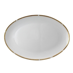 Bernardaud Gold Leaf Oval Platter 15""