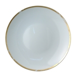 Bernardaud Gold Leaf Deep Round Dish 11.5""