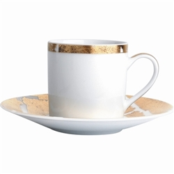 Bernardaud Gold Leaf After Dinner Coffee Saucer