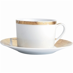 Bernardaud Gold Leaf Tea Cup 5oz.