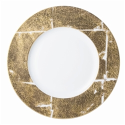 Bernardaud Gold Leaf Service Plate Coupe 12""
