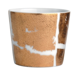 Bernardaud Gold Leaf Tumbler Medium 4.5oz.