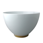 Bernardaud Gold Leaf Deep Salad Bowl 10.5""