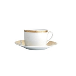 Bernardaud Gold Leaf Tea Saucer Luna Shape