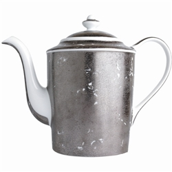 Bernardaud Silver Leaf Hot Beverage Server Coffee Pot 12 Cups