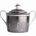 Bernardaud Silver Leaf Sugar Bowl