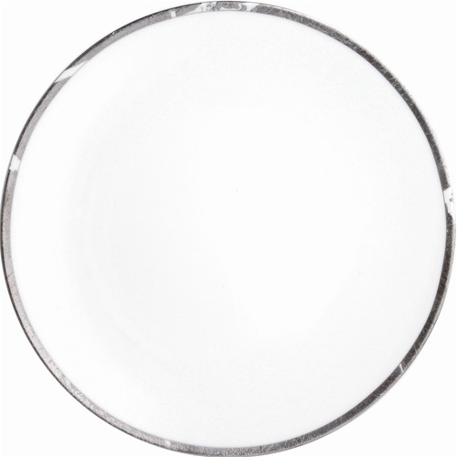 Bernardaud Silver Leaf Coup Dinner Plate Round 10.2""