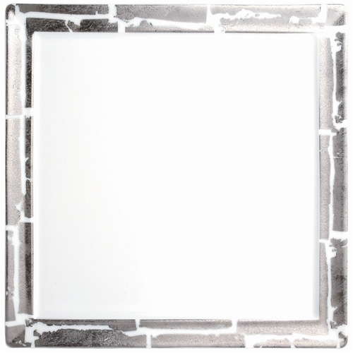 Bernardaud Silver Leaf Fidji Dinner Plate Square