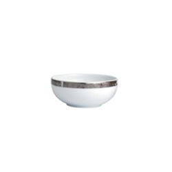 Bernardaud Silver Leaf Condiment Cup and Small Dish 2.75in