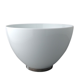 Bernardaud Silver Leaf Deep Salad Bowl 10.6""