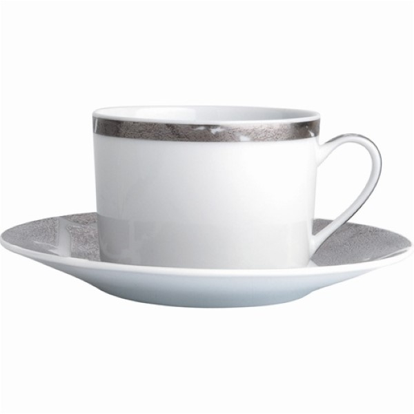 Bernardaud Silver Leaf Tea Cup Only