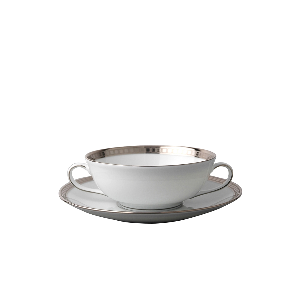 Bernardaud Athena Platinum Cream Soup Cup