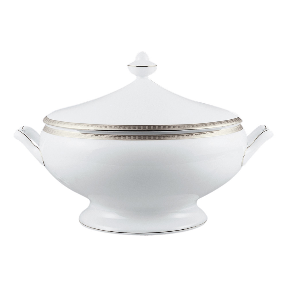 Bernardaud Athena Platinum Soup Tureen