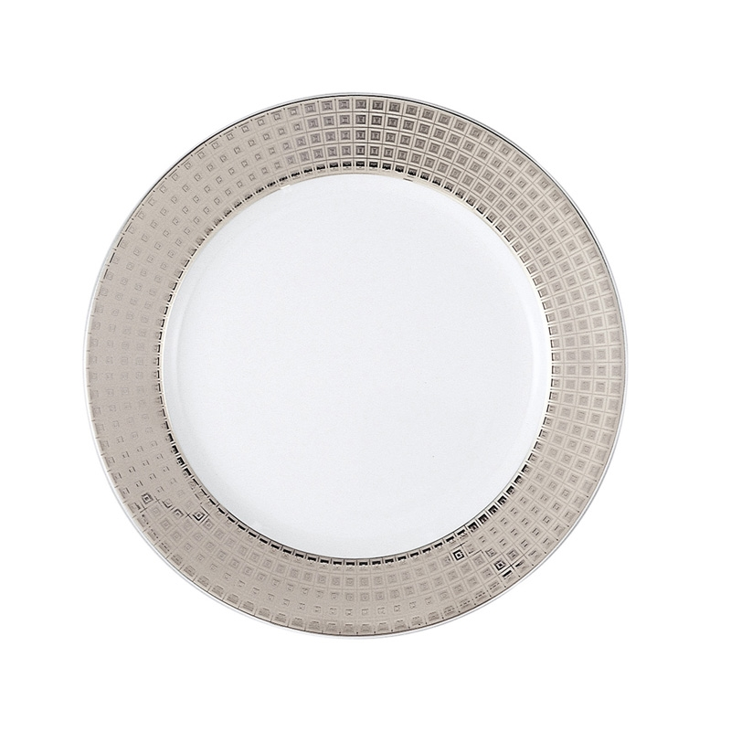 Bernardaud Athena Platinum Accent Salad Plate Full Rim Design