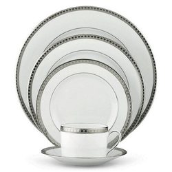 Bernardaud Athena Platinum Five Piece Dinner Place Setting