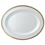 Bernardaud Athena Gold Oval Platter Large