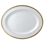 Bernardaud Athena Gold Oval Platter Small
