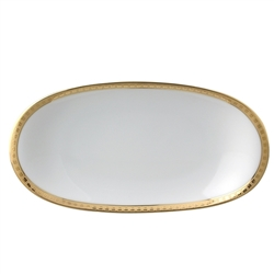 Bernardaud Athena Gold Relish Dish
