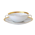 Bernardaud Athena Gold Cream Soup Saucer Only